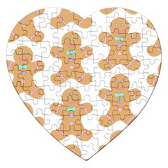 Pattern Christmas Biscuits Pastries Jigsaw Puzzle (Heart)