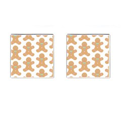 Pattern Christmas Biscuits Pastries Cufflinks (Square)