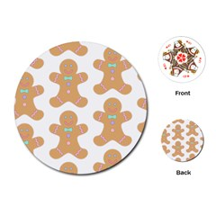 Pattern Christmas Biscuits Pastries Playing Cards (Round)