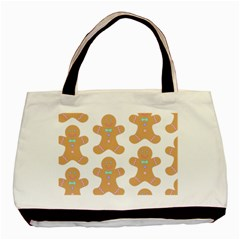 Pattern Christmas Biscuits Pastries Basic Tote Bag