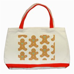 Pattern Christmas Biscuits Pastries Classic Tote Bag (Red)