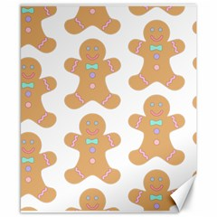Pattern Christmas Biscuits Pastries Canvas 8  x 10
