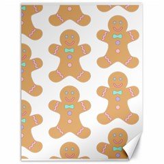 Pattern Christmas Biscuits Pastries Canvas 18  x 24