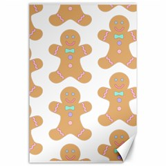 Pattern Christmas Biscuits Pastries Canvas 24  x 36