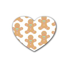 Pattern Christmas Biscuits Pastries Heart Coaster (4 pack)