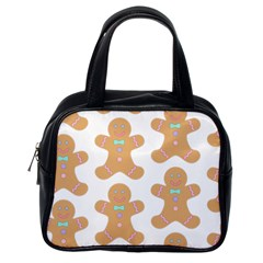 Pattern Christmas Biscuits Pastries Classic Handbags (One Side)