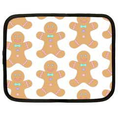 Pattern Christmas Biscuits Pastries Netbook Case (XL)