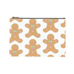 Pattern Christmas Biscuits Pastries Cosmetic Bag (Large)