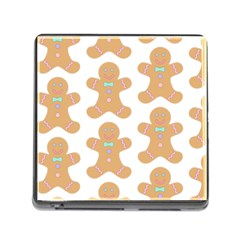 Pattern Christmas Biscuits Pastries Memory Card Reader (Square)