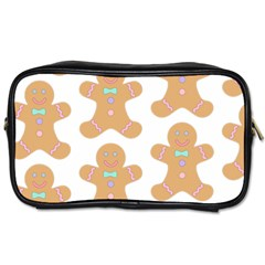 Pattern Christmas Biscuits Pastries Toiletries Bags