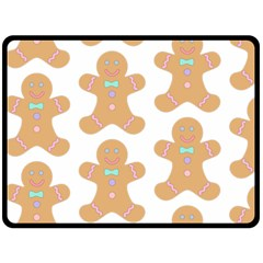 Pattern Christmas Biscuits Pastries Fleece Blanket (Large)