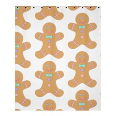 Pattern Christmas Biscuits Pastries Shower Curtain 60  x 72  (Medium)