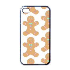 Pattern Christmas Biscuits Pastries Apple iPhone 4 Case (Black)