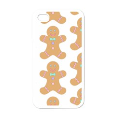 Pattern Christmas Biscuits Pastries Apple iPhone 4 Case (White)