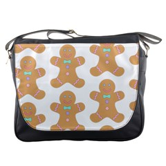 Pattern Christmas Biscuits Pastries Messenger Bags