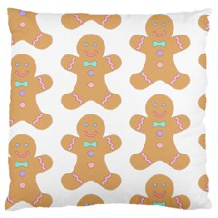 Pattern Christmas Biscuits Pastries Large Cushion Case (Two Sides)