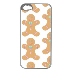 Pattern Christmas Biscuits Pastries Apple iPhone 5 Case (Silver)