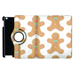 Pattern Christmas Biscuits Pastries Apple iPad 2 Flip 360 Case