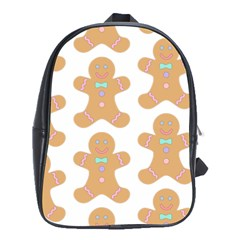 Pattern Christmas Biscuits Pastries School Bags (XL)