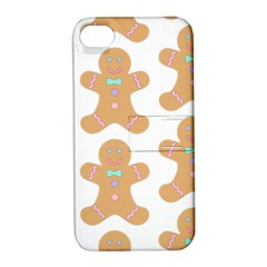 Pattern Christmas Biscuits Pastries Apple iPhone 4/4S Hardshell Case with Stand
