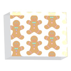 Pattern Christmas Biscuits Pastries 5 x 7  Acrylic Photo Blocks