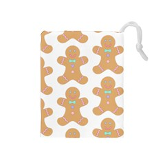 Pattern Christmas Biscuits Pastries Drawstring Pouches (Medium)