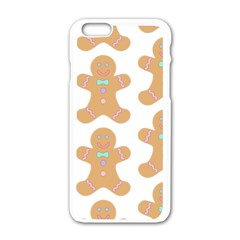 Pattern Christmas Biscuits Pastries Apple iPhone 6/6S White Enamel Case
