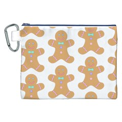 Pattern Christmas Biscuits Pastries Canvas Cosmetic Bag (XXL)