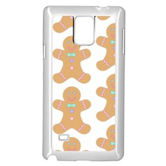 Pattern Christmas Biscuits Pastries Samsung Galaxy Note 4 Case (White)
