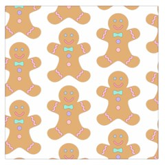 Pattern Christmas Biscuits Pastries Large Satin Scarf (Square)