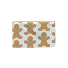 Pattern Christmas Biscuits Pastries Cosmetic Bag (XS)