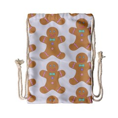Pattern Christmas Biscuits Pastries Drawstring Bag (Small)