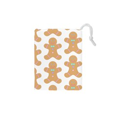 Pattern Christmas Biscuits Pastries Drawstring Pouches (XS)