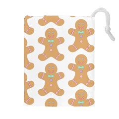 Pattern Christmas Biscuits Pastries Drawstring Pouches (Extra Large)