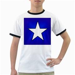 Star Background Tile Symbol Logo Ringer T-Shirts
