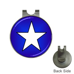 Star Background Tile Symbol Logo Hat Clips with Golf Markers