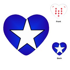 Star Background Tile Symbol Logo Playing Cards (Heart)