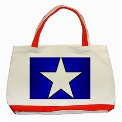 Star Background Tile Symbol Logo Classic Tote Bag (Red)