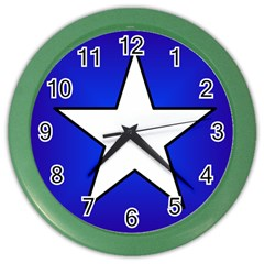Star Background Tile Symbol Logo Color Wall Clocks