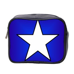 Star Background Tile Symbol Logo Mini Toiletries Bag 2-Side