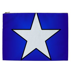 Star Background Tile Symbol Logo Cosmetic Bag (XXL)