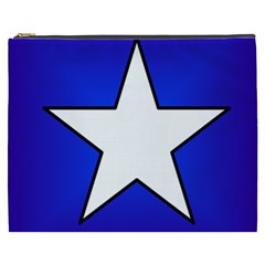 Star Background Tile Symbol Logo Cosmetic Bag (XXXL)