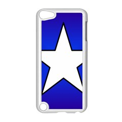 Star Background Tile Symbol Logo Apple iPod Touch 5 Case (White)