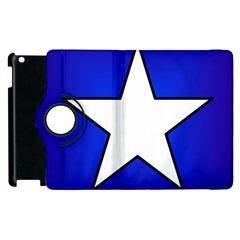 Star Background Tile Symbol Logo Apple iPad 3/4 Flip 360 Case