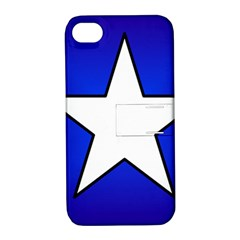 Star Background Tile Symbol Logo Apple iPhone 4/4S Hardshell Case with Stand