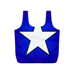 Star Background Tile Symbol Logo Full Print Recycle Bags (S)