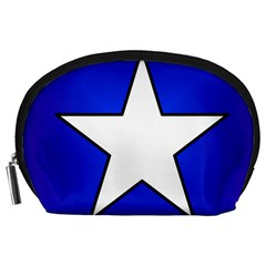 Star Background Tile Symbol Logo Accessory Pouches (Large)
