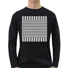 Pattern Background Texture Black Long Sleeve Dark T-Shirts
