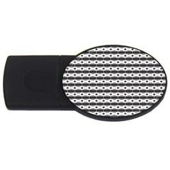 Pattern Background Texture Black USB Flash Drive Oval (4 GB)