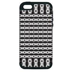 Pattern Background Texture Black Apple iPhone 5 Hardshell Case (PC+Silicone)
